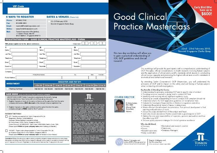 Good Clinical Practice Masterclass