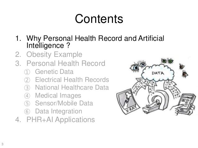 The Present and Future of Personal Health Record and Artificial Intelligence Healthcare Slide 3