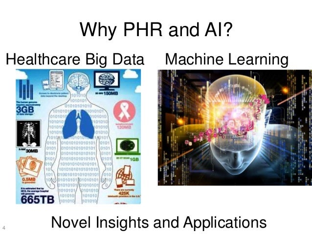 Why PHR and AI? 4 Healthcare Big Data Machine Learning Novel Insights and Applications