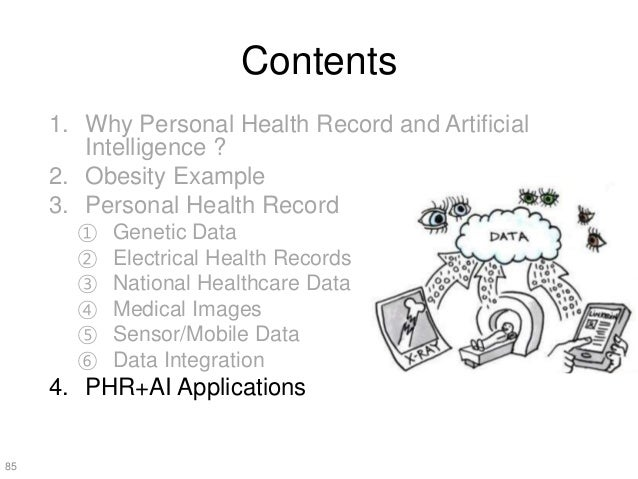 The Present and Future of Personal Health Record and Artificial Intelligence Healthcare