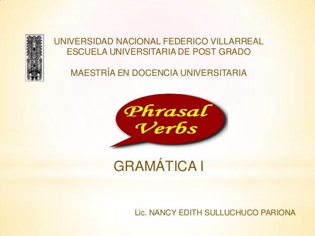 UNIVERSIDAD NACIONAL FEDERICO VILLARREAL  ESCUELA UNIVERSITARIA DE POST GRADO   MAESTRÍA EN DOCENCIA UNIVERSITARIA        ...