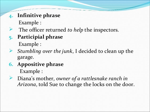 Phrase clause and sentence in syntax – Participial Phrase Worksheet