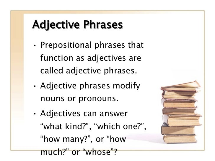 Phrases Prepositional And Appositive – Adjective Phrases Worksheet