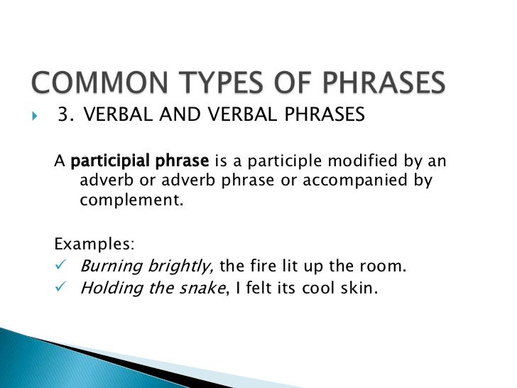 Phrases and clauses – Participial Phrases Worksheet