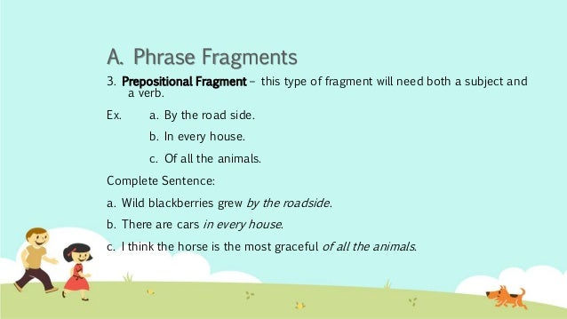 Phrases And Fragments