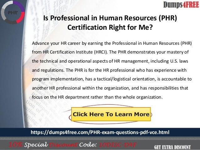 Real HRCI PHR Exam Question Answers   Dumps4free