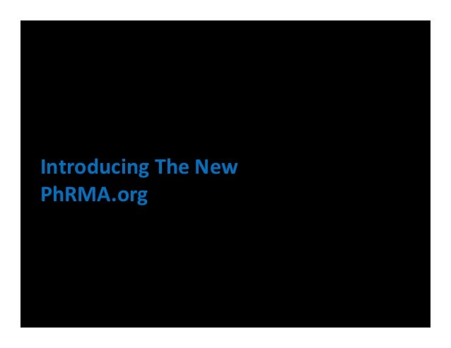 Introducing The NewPhRMA.org