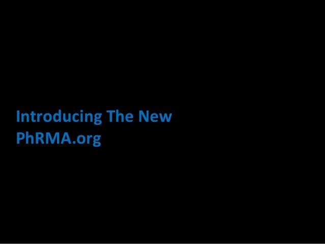 Introducing The NewPhRMA.org