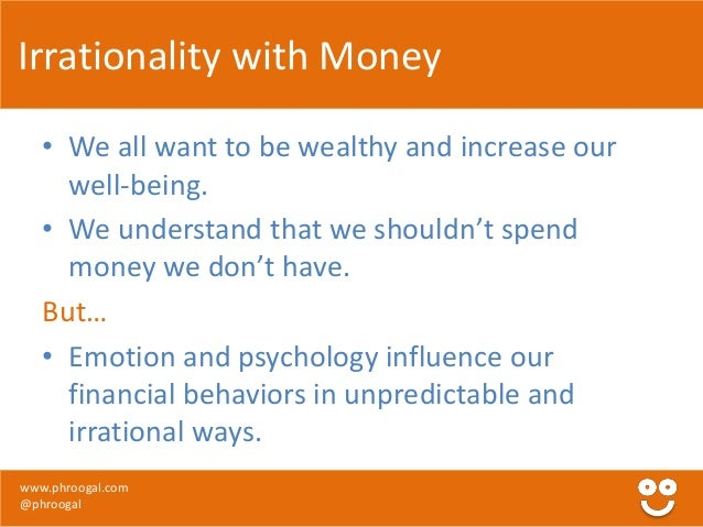 personal finance introduction to behavioral finance by phroogal