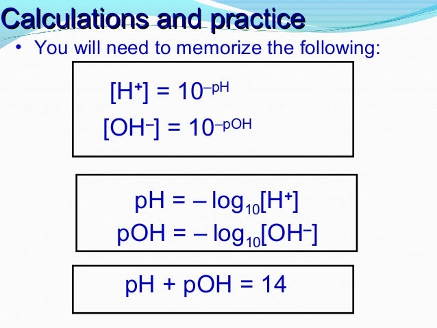 Ph scale – Chemistry Ph and Poh Calculations Worksheet