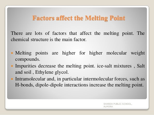 how does impurities affect melting point
