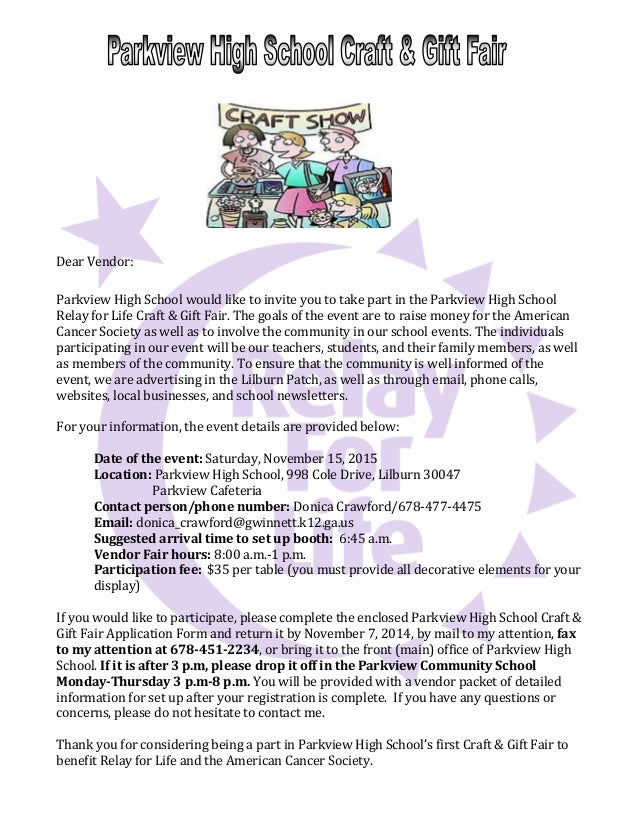 2014 phs rfl vendor letter dear vendor parkview high school would like to invite you to take part in the spiritdancerdesigns Image collections