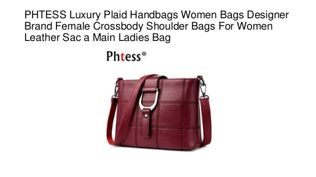 Phtess luxury plaid handbags women bags designer brand female crossbody  shoulder bags for women leather sac a main ladies bag e54a691ba6ee8