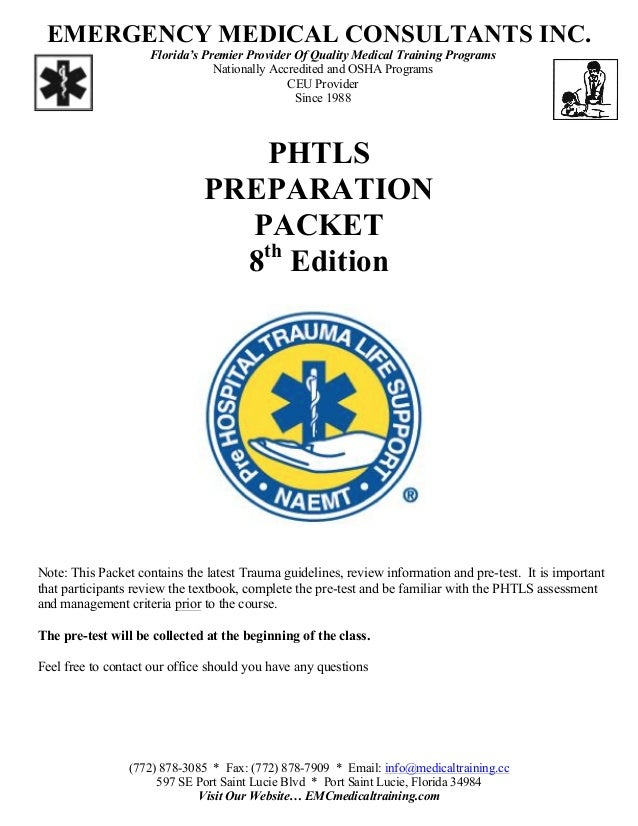 Phtls pretest answers 8th edition