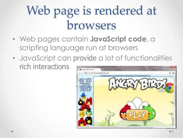 Web security: Securing Untrusted Web Content in Browsers Slide 2