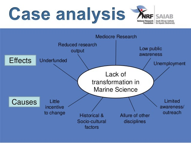 Lack of transformation in Marine Science Causes Effects Little incentive to change Historical & Socio-cultural factors Lim...