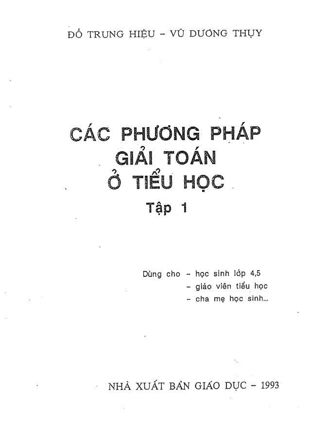 Phương pháp giải toán Tiểu Học (dành cho lớp 4, 5)