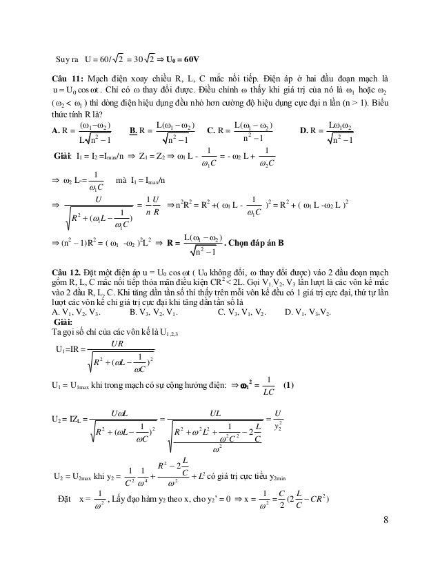 2 2 = (2) L C (2 L  CR 2 ) 2 2 C (2  R ) C U U U U3 = IZC =   2 y3 1 2 1 L C R 2  (L  ) C  2 ( R 2   2 L2  2 2...