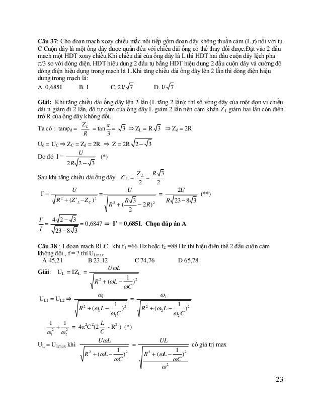 1 2 ) C = ymin ⇒ 2 = 42C2(2 L - R2 ) (**) hay y = 2 C 2 2 1 1 2 1 1 Từ (*) và (**) ta có 2 = 2 + 2 hay 2 = 2 + 2  1 ...