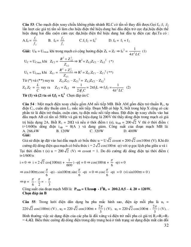 làm  cho  điện  trở  pha thứ 1 và pha thứ 3 giảm đi một nửa là:  A. i = 50 2 cos(100t + ) (A) B. i = 50 2 cos(100t +) ...