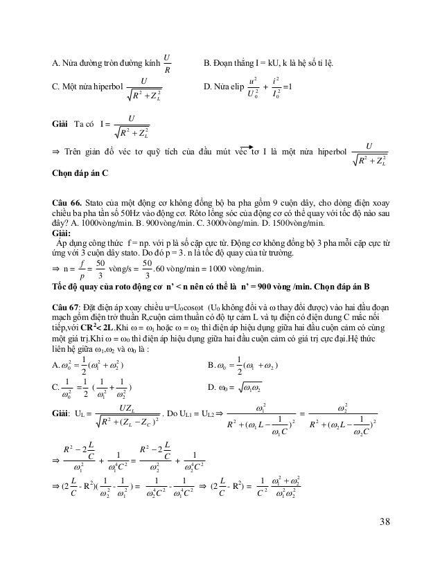 ⇒  1    2 1  +  1    2 2  = C2 (2  R2  2  L - R2) (*) C  L C +  C2 1 L 1 + L2 có giá trị cực tiểu. ⇒ 2 = (2 - R2) (**) ...