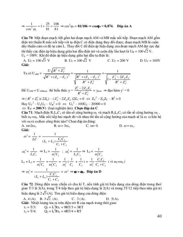 t3 = 5T/12: Q3 = I32Rt3 = 12R.5T/12 = 5RT t = t1 + t2 + t3 = T là Q = I2Rt = I2RT Mà Q = Q1 + Q2 + Q3 = 9RT ⇒ I2 = 9 ⇒ I =...