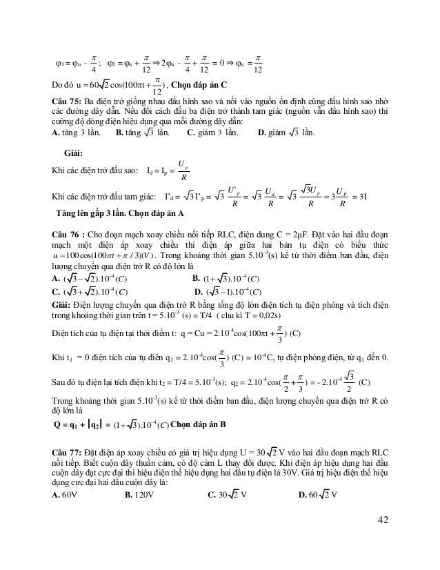 2 2 U R 2  ZC R 2  ZC Giải: Khi L thay đổi ULmax khi ZL = (1)và ULmax = R ZC  Ta có:  U UC   Z ZC  30 2    30 2  2ZC...