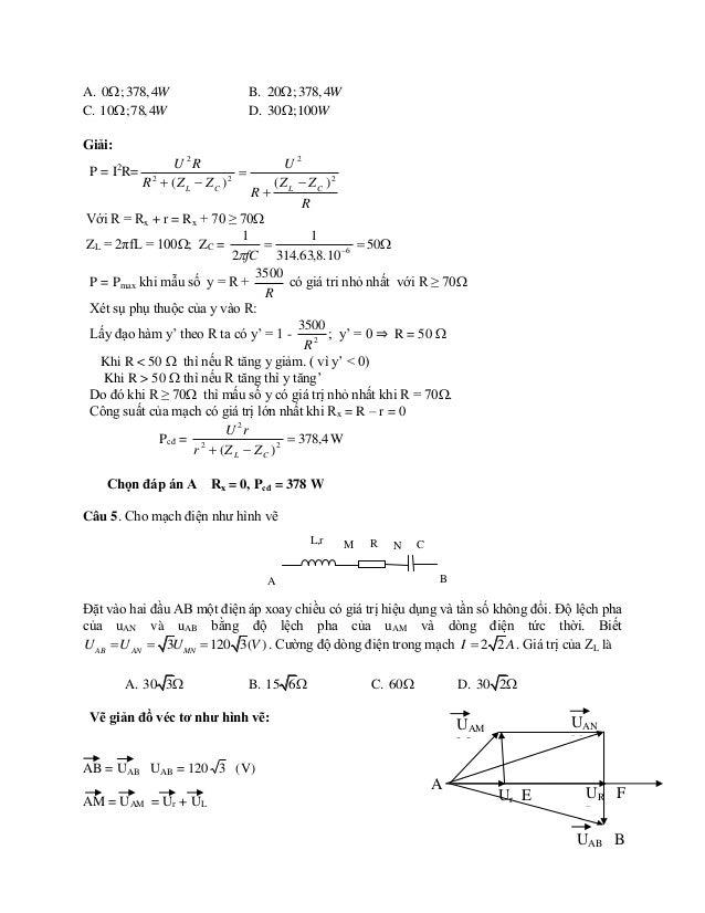 AN = UAN  UAN = 120 3 (V)  AE = Ur EF = MN = UMN = UR  UMN = UR = 120 (V)  AF = Ur + UR ; EM = FN = UL ; NB = UC NAB = M...