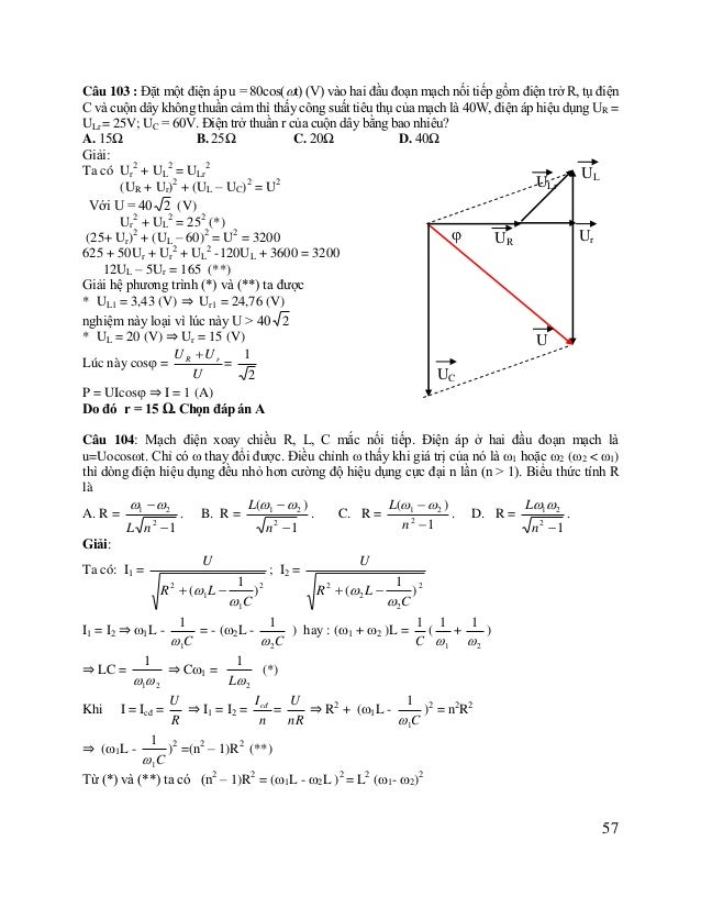 Phương pháp giải và bài tập điện xoay chiều