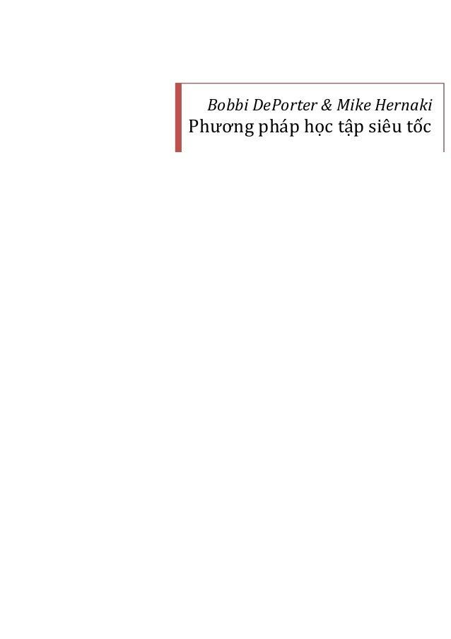 Bobbi DePorter & Mike Hernaki Phương ph|p học tập siêu tốc