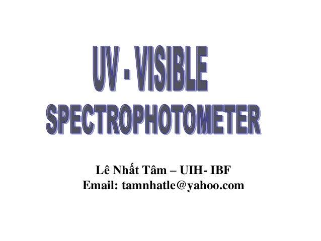 Lê Nhất Tâm – UIH- IBF Email: tamnhatle@yahoo.com
