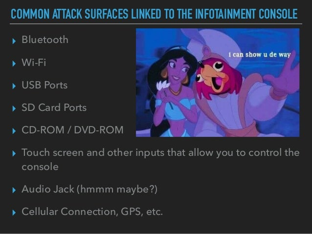 Car Infotainment Hacking Methodology and Attack Surface Scenarios