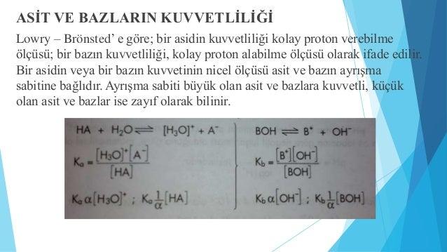SUYUN İYONLAŞMASI,PH VE POH  Bu denklem hem asit hemde baz özelliği gösterir. Yukaridaki eşitliğe kütlelerin  etkisi yasas...