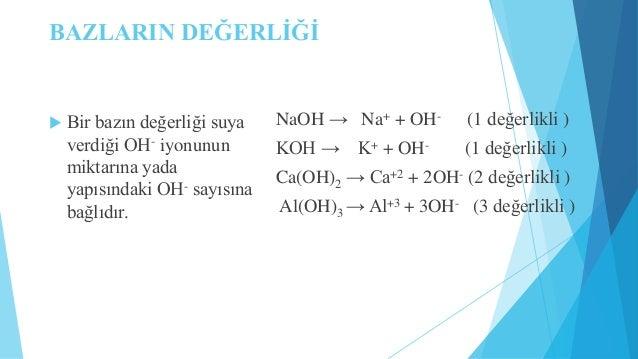 Kuvvetli Asit ve Bazların pH Hesapları   Bir kuvvetli asit veya baz suda çözündüğü zaman, nedeyse tamamen iyonlarına ayrı...