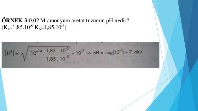 KISACA NOTLAR   Ksu=[H+][OH-] suyun iyonlar çarpımı sabiti   pH= -log[H+] bir çözelti pH'ı tanımı   pOH= [OH-] bir çöze...