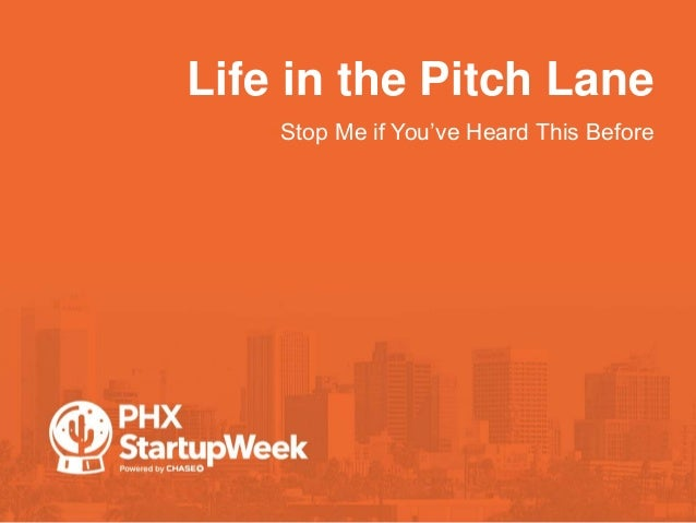 Life in the Pitch Lane •Stop Me if You've Heard This Before
