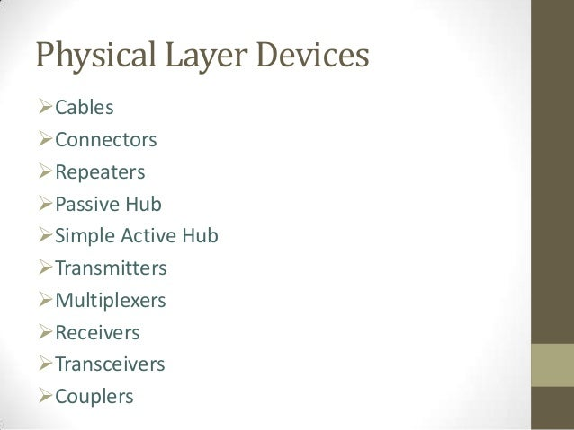 Physical Layer Of Iso Osi Model And Devices
