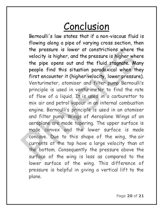 conclusion for physics project