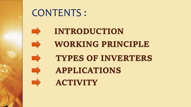 Working Principle of Inverters & Types