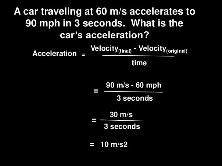 A Car Traveling At   M S Accelerates