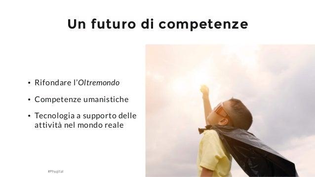 #Phygital Giacomo Bosio Un futuro di competenze 15 • Rifondare l'Oltremondo • Competenze umanistiche • Tecnologia a suppor...