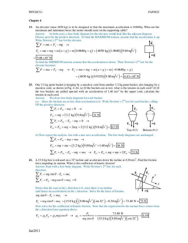 Phy I Assign Amp Answers 2011
