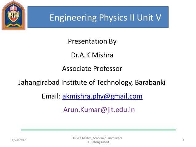 Unit V : Superconductors And Nanomaterialsapplied Physics