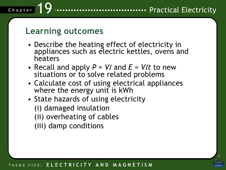 <ul><li>Describe the heating effect of electricity in appliances such as electric kettles, ovens and heaters </li></ul><ul...