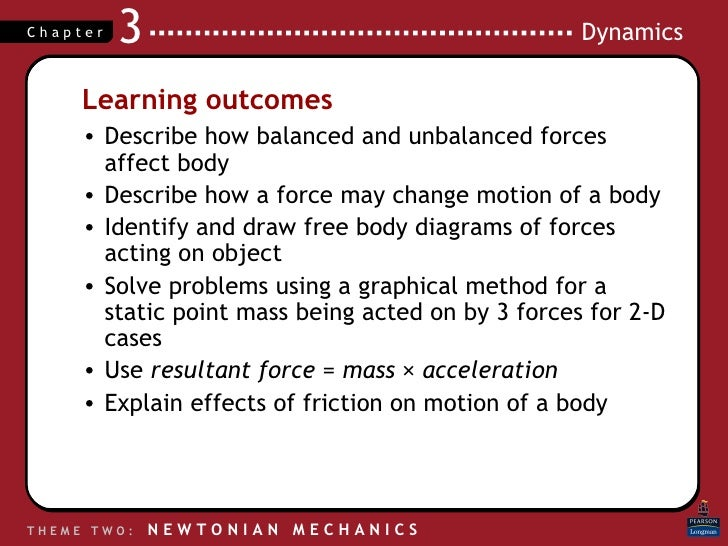 Learning outcomes <ul><li>Describe how balanced and unbalanced forces affect body </li></ul><ul><li>Describe how a force m...