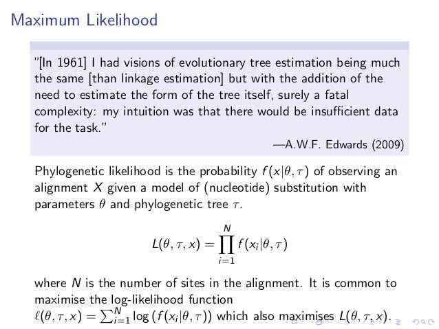 maximum likelihood programming in r Maximum likelihood estimation in stata example: binomial probit this program is suitable for ml estimation in the linear form or lf context the local macro lnf contains the contribution to log-likelihood.