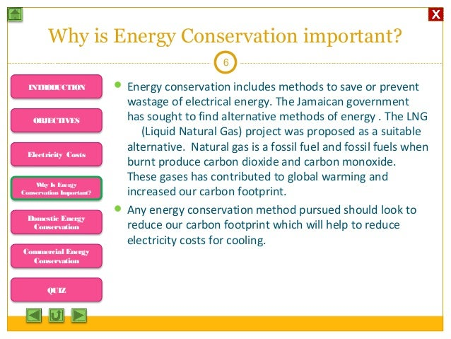 The definition and importance of energy conservation