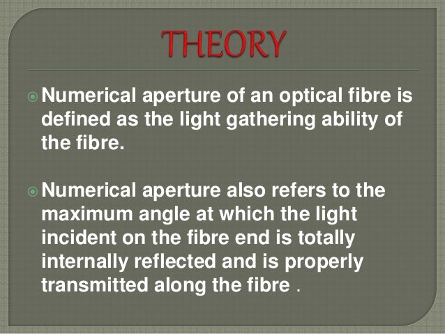 Aperture end theory