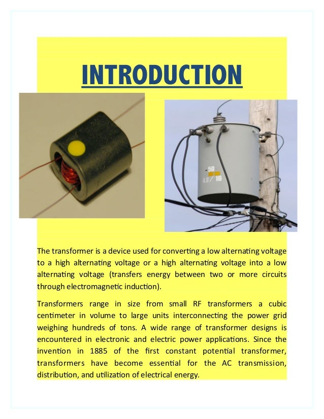 Step-down transformer Physics project Class 12 CBSE Final