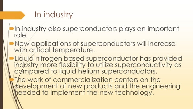 application of superconductors in engineering physics